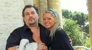 Maurizio Sebastianelli et sa fille, peu avant sa mort.
