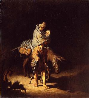 La fuite en Egypte, par Rembrandt