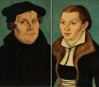 Luther et Catherine de Bore, une ex-bénédictine qu'il a épousée