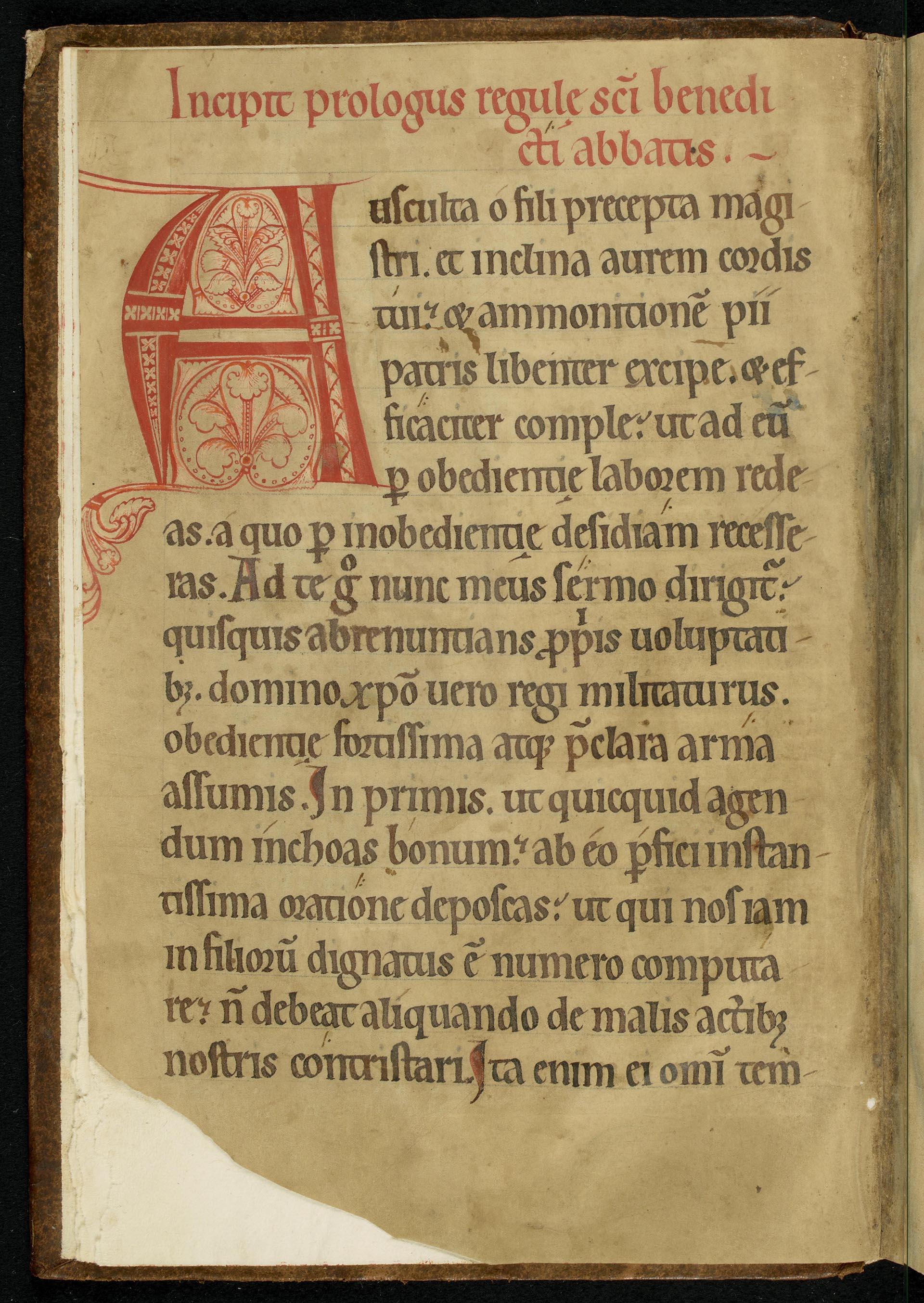 Manuscrit de la Règle de Saint Benoît